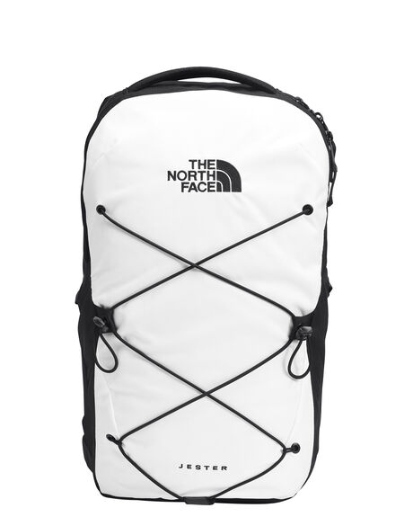 TNF WHITE TNF BLACK MENS ACCESSORIES THE NORTH FACE BAGS + BACKPACKS - NF0A3VXFLA9