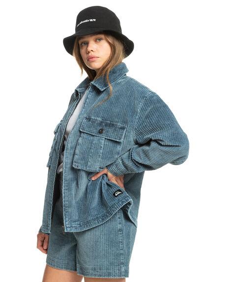 NAVY BLAZER WOMENS CLOTHING QUIKSILVER JACKETS - EQWJK03020-BYJ0