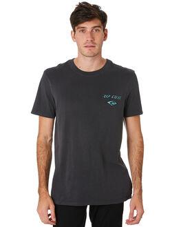 DARK GREY MENS CLOTHING RIP CURL TEES - CTEKH91221