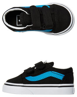 BLACK VIVID BLUE KIDS TODDLER BOYS VANS FOOTWEAR - VNA344K3M8BLK
