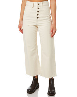 SHADY WHITE WOMENS CLOTHING THRILLS JEANS - WTDP-432ASHDWT
