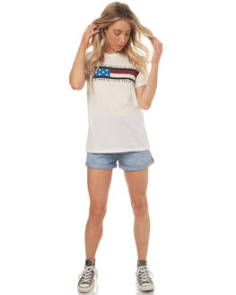 WHITE WOMENS CLOTHING THE PEOPLE VS TEES - HS17W015WHT