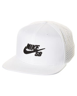WHITE BLACK MENS ACCESSORIES NIKE HEADWEAR - 629243103