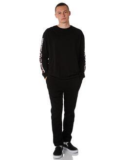 BLACK MENS CLOTHING STUSSY PANTS - ST086601BLK