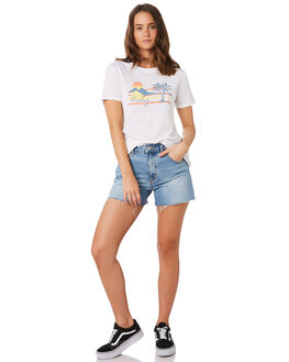 WHITE WOMENS CLOTHING HURLEY TEES - BV1850-100