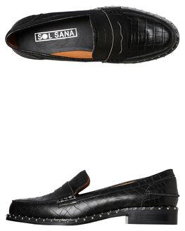 BLACK CROC WOMENS FOOTWEAR SOL SANA FLATS - SS192W418BKCC
