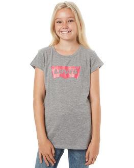 HEATHER GREY KIDS GIRLS LEVI'S TEES - 37391-0069HGRY