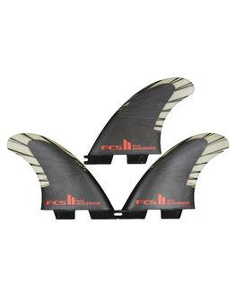 BLACK RED BOARDSPORTS SURF FCS FINS - FACC-CC03-TS-RBLKRD