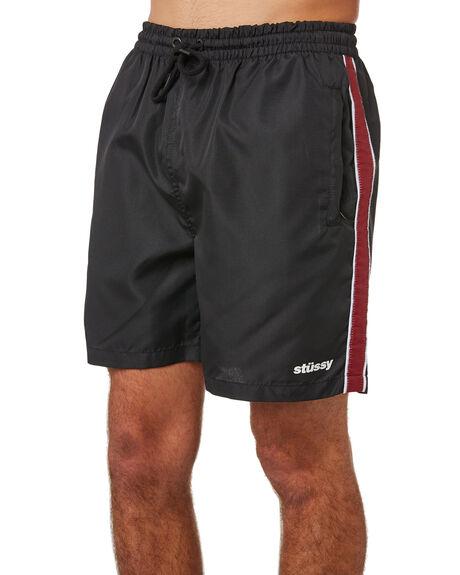 BLACK MENS CLOTHING STUSSY SHORTS - ST083613BLK
