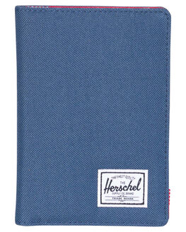 NAVY RED MENS ACCESSORIES HERSCHEL SUPPLY CO WALLETS - 10373-00018-OSNVRD