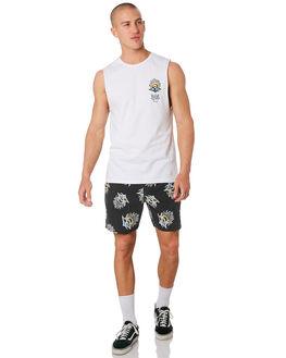 WHITE MENS CLOTHING RIP CURL SINGLETS - CTEUL21000