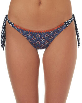 WASHED INDIGO WOMENS SWIMWEAR TIGERLILY BIKINI BOTTOMS - T372584IND