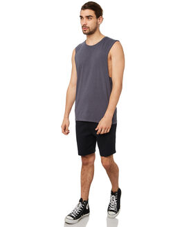 NAVY MENS CLOTHING SILENT THEORY SINGLETS - 40X0025NAVY