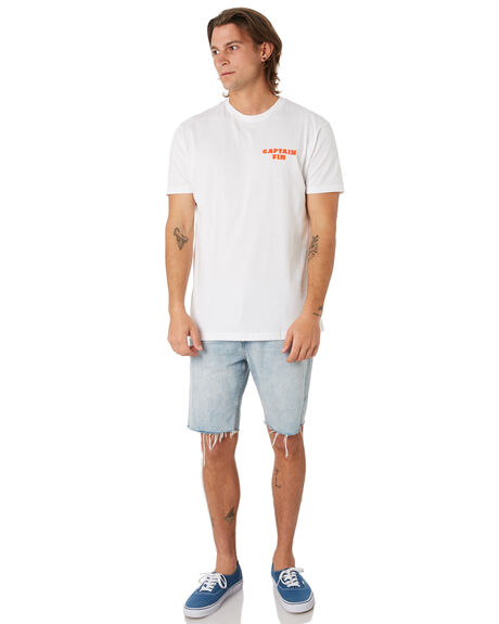 WHITE OUTLET MENS CAPTAIN FIN CO. TEES - CT193001WHT