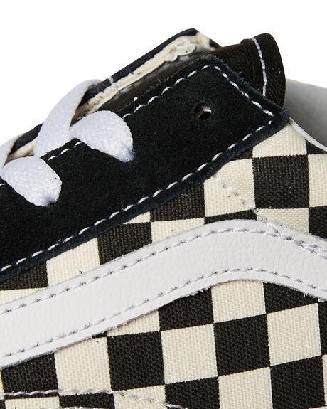 BLACK WHITE KIDS BOYS VANS SNEAKERS - VNA38HBPOSBLK