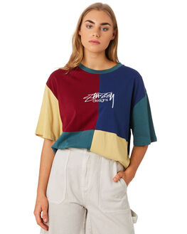 TEAL WOMENS CLOTHING STUSSY TEES - ST192114TEAL