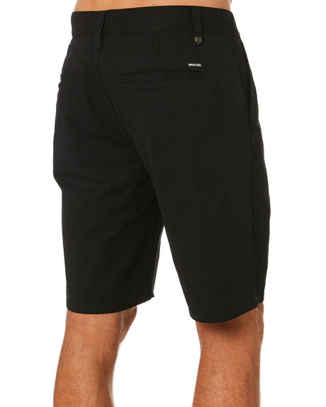 BLACK MENS CLOTHING BRIXTON SHORTS - 04215BLACK