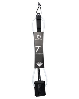 WHITE BLACK BOARDSPORTS SURF MODOM LEASHES - 20197FTSTDWMWHIBL