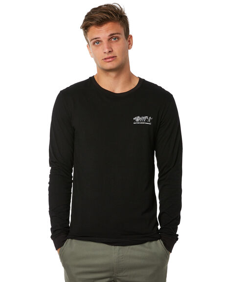BLACK MENS CLOTHING RHYTHM TEES - JUL18M-PT09BLK