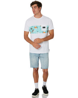 WHITE OUTLET MENS RIP CURL TEES - CTETX21000