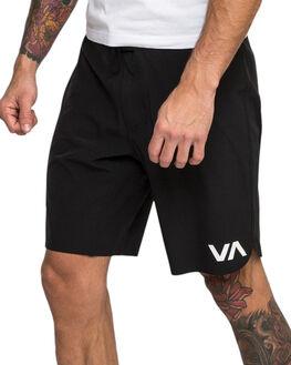BLACK MENS CLOTHING RVCA SHORTS - R393318BLK