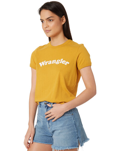 VINTAGE GOLD WOMENS CLOTHING WRANGLER TEES - W-951373-K59