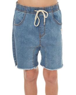 THRIFTED BLUE KIDS BOYS RUSTY SHORTS - WKB0261THB