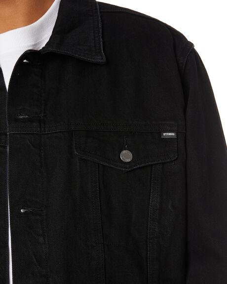 BLACK RINSE MENS CLOTHING THRILLS JACKETS - TDP-231BRBLKRN