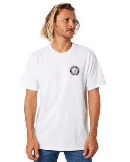 WHITE TEAL MENS CLOTHING BRIXTON TEES - 06519WHTEA