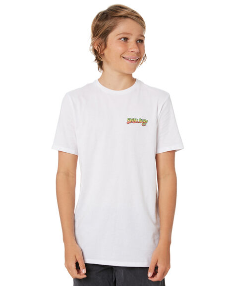WHITE KIDS BOYS SWELL TOPS - S3211002WHITE