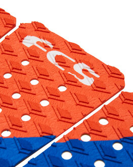 RED WHITE BLUE BOARDSPORTS SURF FCS TAILPADS - FKAG2RDWBL