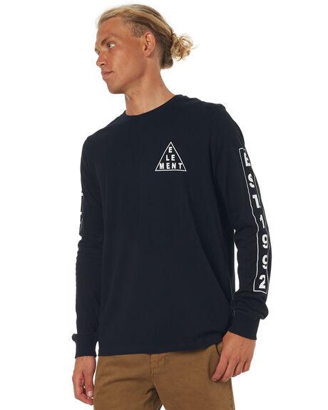 FLINT BLACK MENS CLOTHING ELEMENT TEES - 173055FBLK