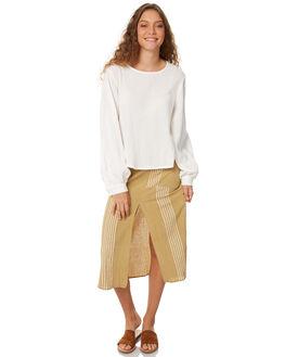 OLIVE WOMENS CLOTHING ZULU AND ZEPHYR SKIRTS - ZZ2070OLI