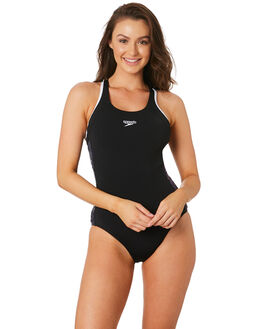BLACK IRIDESCENT WOMENS SWIMWEAR SPEEDO ONE PIECES - 2266F-7645BKIRD