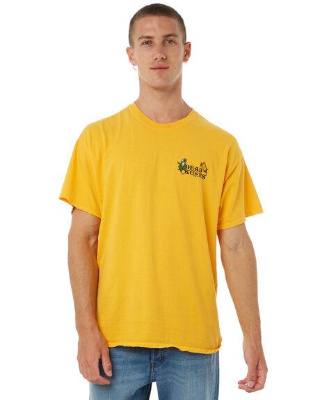 GOLD MENS CLOTHING DEAD KOOKS TEES - DKSSTEE11GOLD