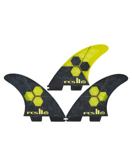 YELLOW BOARDSPORTS SURF FCS FINS - FAML-PC04-LG-TS-RYEL