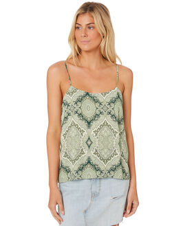 GREEN WOMENS CLOTHING TIGERLILY FASHION TOPS - T382037GRE