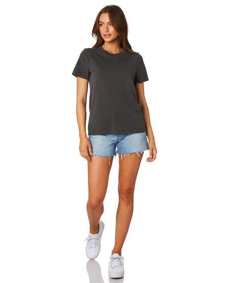 FADED BLACK WOMENS CLOTHING AS COLOUR TEES - 4065FDBLK