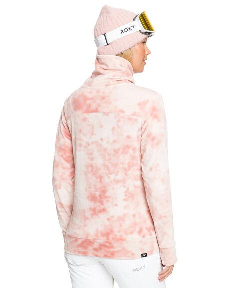 SILVER PINK TIE DYE WOMENS CLOTHING ROXY JACKETS - ERJFT04205-MFC1