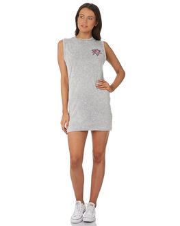 STONE GREY WOMENS CLOTHING RUSTY DRESSES - DRL0935SOG