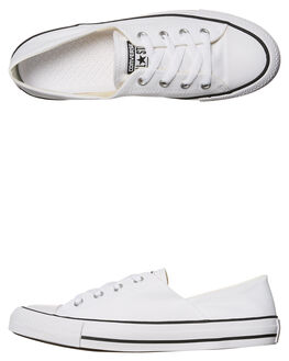 WHITE WOMENS FOOTWEAR CONVERSE SNEAKERS - 555901WHITE