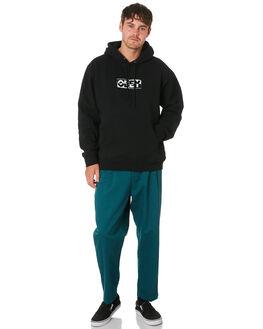BLACK MENS CLOTHING OBEY JUMPERS - 112470046BLK
