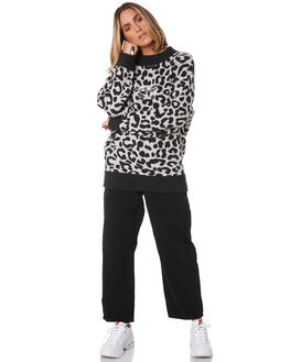 LEOPARD WOMENS CLOTHING STUSSY JUMPERS - ST106303LEO
