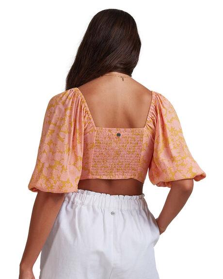 CORAL WOMENS CLOTHING BILLABONG FASHION TOPS - BB-6517145-COR