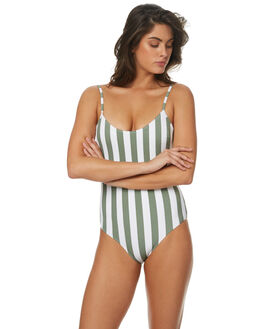 OLIVE WOMENS SWIMWEAR TIGERLILY ONE PIECES - T372599OLV
