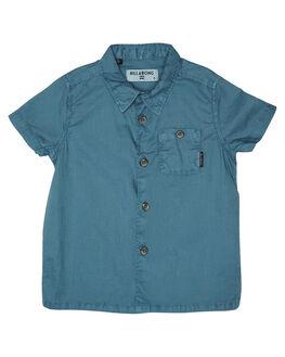 WASHED BLUE KIDS TODDLER BOYS BILLABONG SHIRTS - 7581209WBLU