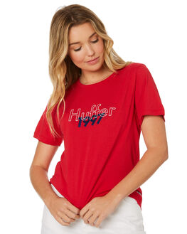 RED WOMENS CLOTHING HUFFER TEES - WTE84S4128RED