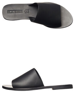 BLACK WOMENS FOOTWEAR SOL SANA SLIDES - SS172S401BLK
