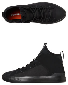 BLACK BLACK MENS FOOTWEAR CONVERSE SNEAKERS - 162378BKBK