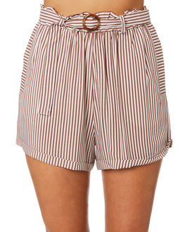 BROWN STRIPE WOMENS CLOTHING ELWOOD SHORTS - W946006IL